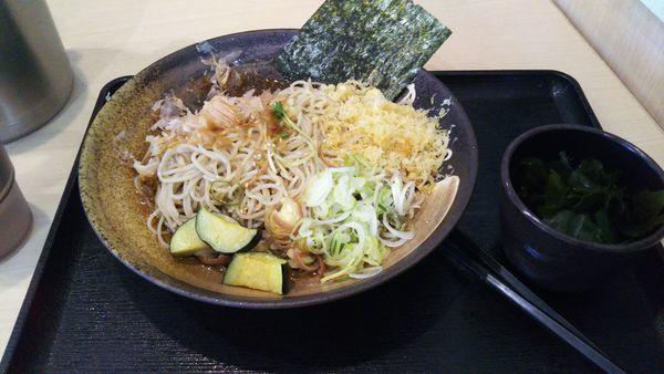 「薬味そば、ワカメ(クーポン)」@ゆで太郎 水海道店の写真