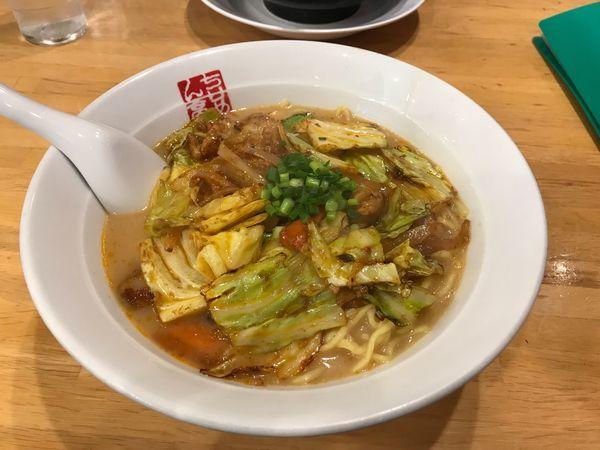 「ピリ辛野菜ラーメン」@ちりめん亭 甲府下石田店の写真