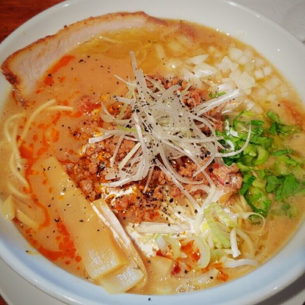 「【当日限定】トマトの担々麺 850円」@麺や 松辰の写真