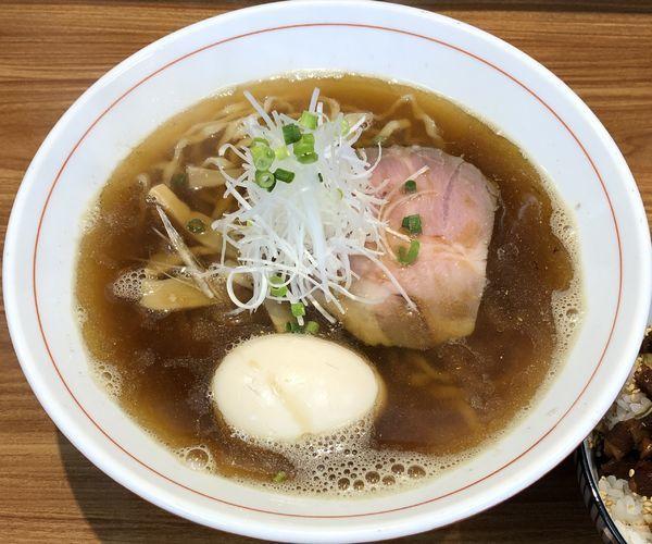 「煮干+味玉+チャーシューめし(¥650+¥100+¥200)」@ら~麺 安至の写真
