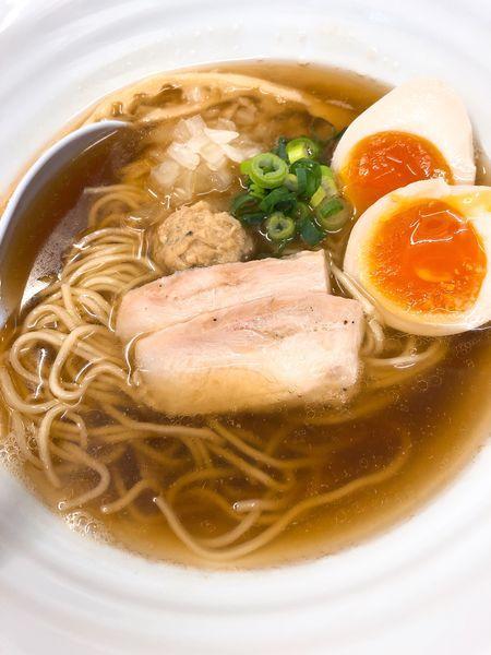 「味玉煮干し鶏そば ¥800」@麺屋 ゆるり。の写真