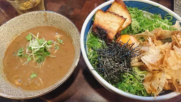 「釜玉つけ麺(900円)」@麺や 庄のの写真