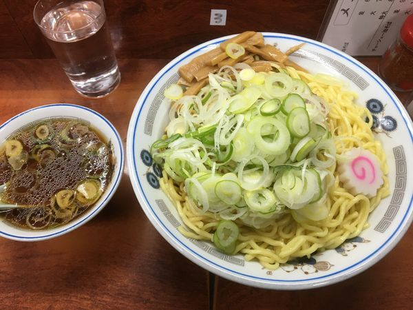 「油そば特盛/ネギ/スープ」@珍々亭の写真