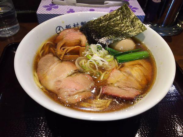 「中華そば(醤油)+Aセット(餃子4個と半ライス)」@中華そば 飯村製作所の写真