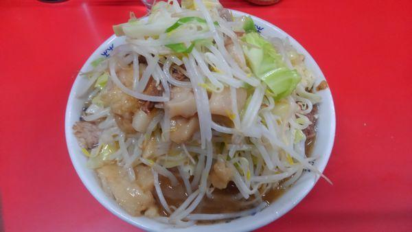 「小ラーメン 麺半分」@ラーメン二郎 松戸駅前店の写真