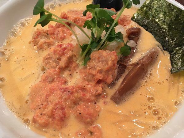 「トマトと海老の泡らーめん」@らーめん 和なり えんの写真