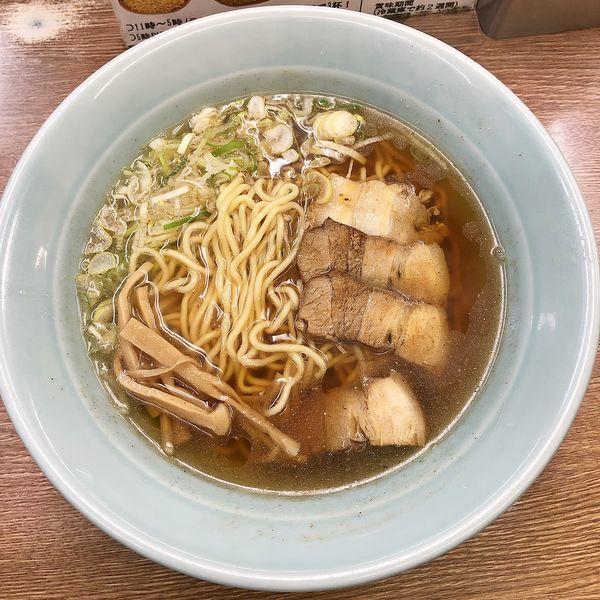 「ラーメン¥650+チャーシューおこわ(サービス)」@名代らーめん 航海屋 新宿店の写真