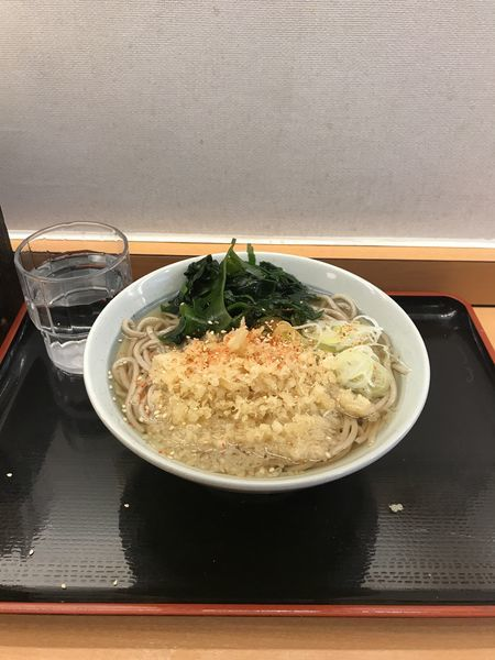 「たぬきそば(関西出汁)350円」@かのや 新宿西口店の写真