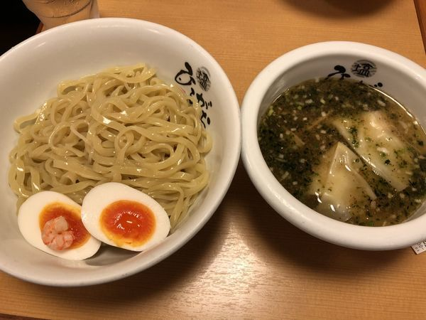 「塩つけ麺 ひるがお盛り」@塩専門 ひるがお 東京駅店の写真