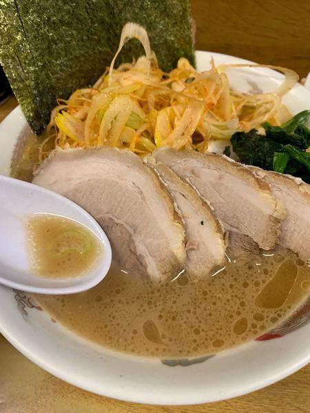 「チャーシューメン850円ネギ200円」@たかさご家 日ノ出町店の写真