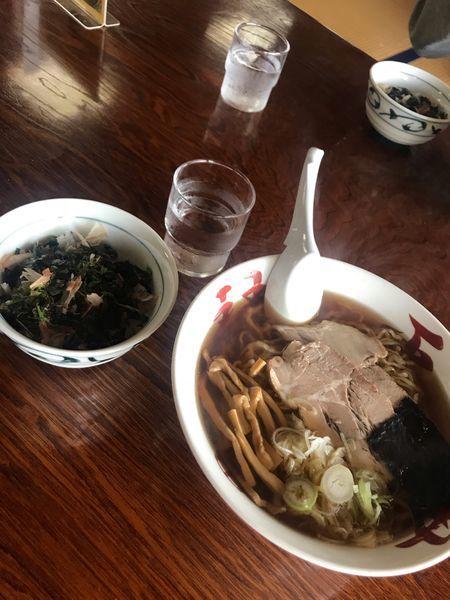 「中華そば+ぶっかけ漁師めし ¥830」@琴平荘の写真