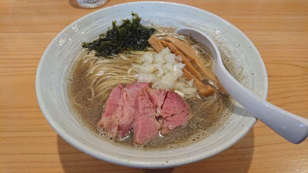 「煮干しらぁ麺(濃い目)・味つき替え玉」@麺屋 さくら井の写真