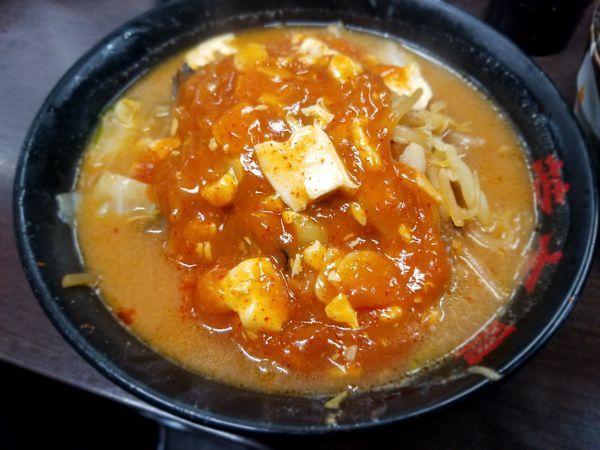 「味噌麻婆麺」@元祖旨辛系タンメン 荒木屋の写真