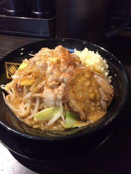「どろ味噌 900円 ニンニクマシ・アブラマシ」@麺や 久の写真
