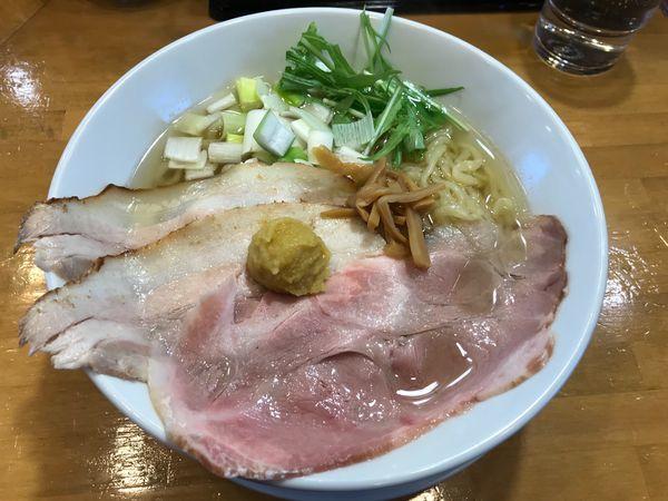 「虜柚子中華そば(特盛り)」@自家製中華そば 麺の虜の写真