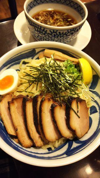 「チャーシュー黒つけ麺(特盛)」@野田醤油らーめん 麺屋あじくま 初石店の写真