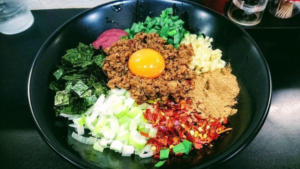 「【期間限定】台湾まぜそば」@自家製麺SHINの写真