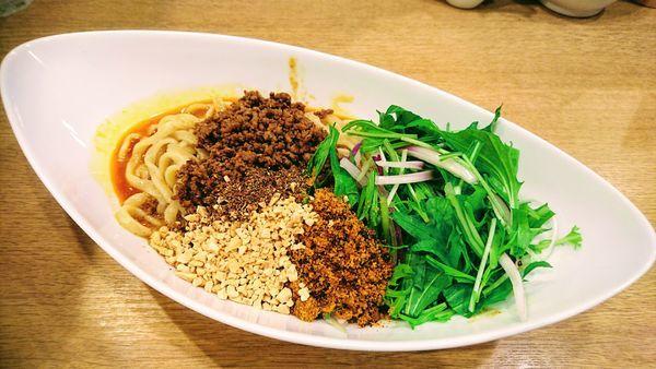 「汁なし担担麺(辛さ4)」@手打中華そば 大賀110の写真