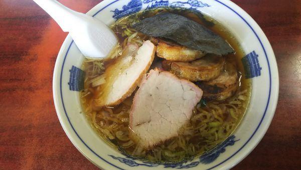 「中華焼豚麺+味玉 1200円」@白河中華そばの写真