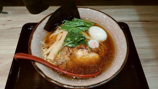 「【限定】味玉アゴ煮干しょう油鶏そば¥900-」@征麺家 かぐら屋の写真