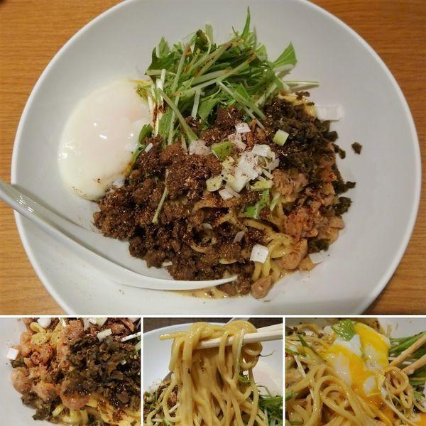 「汁なし白胡麻担々麺+温泉卵=980円」@汁なし担担麺 ピリリ 神田店の写真