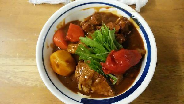 「ぶっかけ和牛ストロガノフ」@MENYA 食い味の道有楽の写真