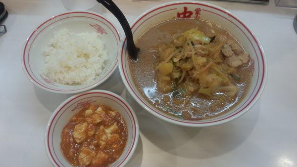 「味噌タンメン+定食(960円)」@蒙古タンメン 中本 柏店の写真