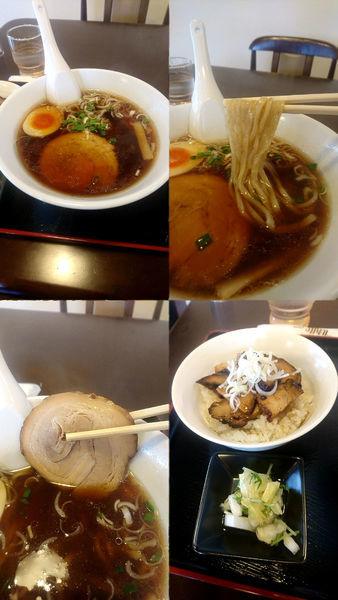 「『正油+半チャ丼セット(¥900)』」@麺屋 きた村の写真