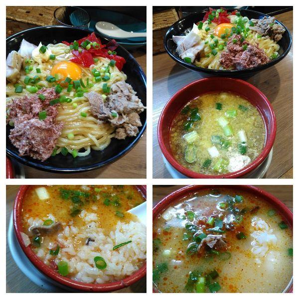 「ガーリック塩まぜつけ麺」@麺家 Shumen Doushiの写真