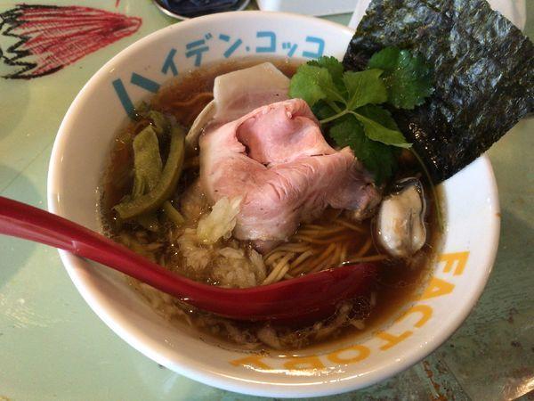 「魚貝煮干し中華そば」@つけ麺屋 丸孫商店の写真