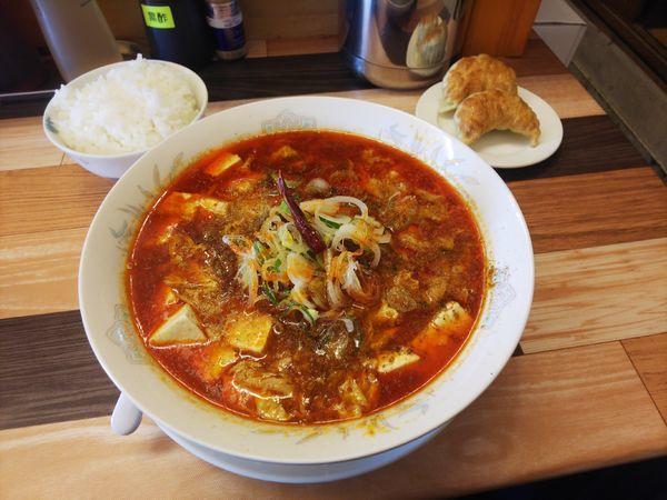 「豆腐マーラーメンAセット」@ラーメン餃子 なか屋の写真