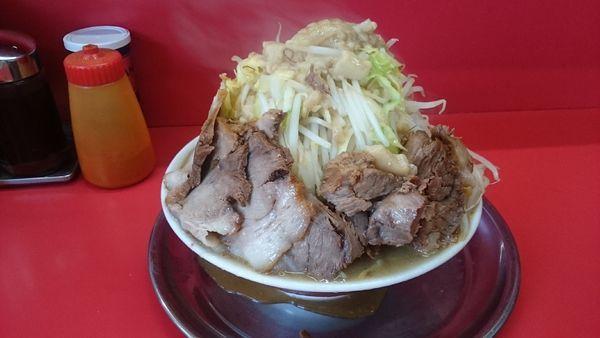 「限界盛・チャーシュー麺(ヤサイブロック脂)¥800」@麺でる 田園調布本店の写真