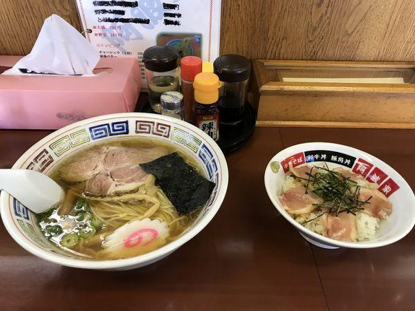 「阿波谷ラーメン Bセット」@支那そば・横浜タンメン 阿波家の写真
