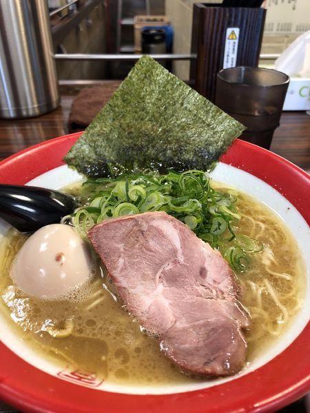 「細麺 680円+味玉+ライス(無料)」@百麺 中目黒店の写真