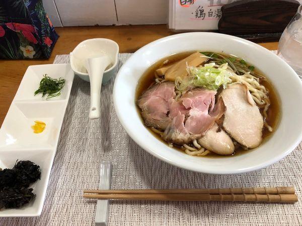 「煮干し 比内地鶏 中太麺大盛」@#HANABIYA ~ramen & bar~の写真