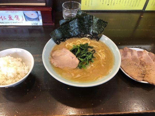 「チャーシュー麺並硬め濃いめ、小ライス」@横濱家系ラーメン 元喜家 那須塩原店の写真