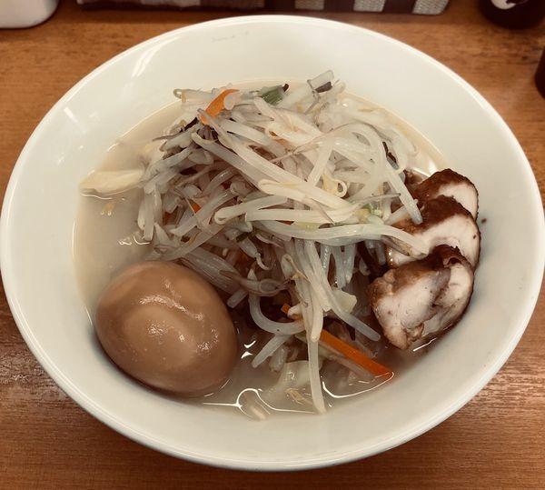 「鶏塩タンメン(¥770)+煮玉子他」@富白 御徒町本店の写真
