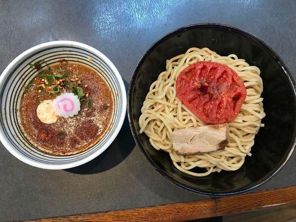 「スパイスつけ麺 大盛 ローストトマト 1,130円」@つけ麺 天下の写真