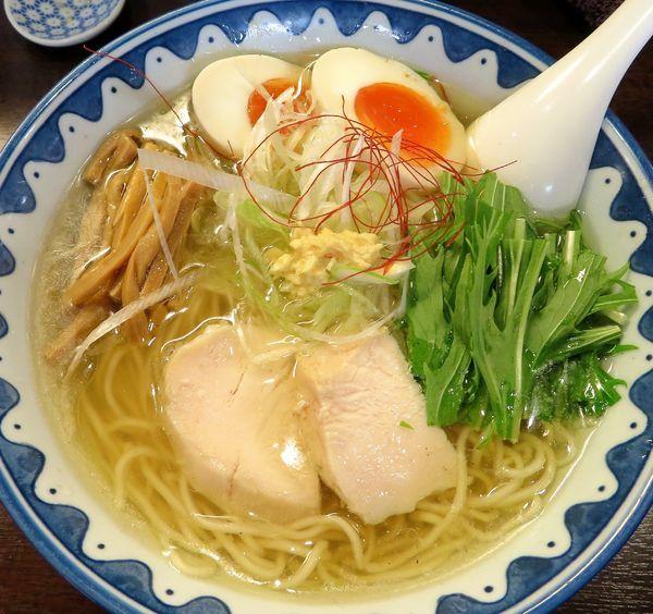 「黄金の鶏塩(期間限定)+味玉(850円)」@GANCON NOODLEの写真