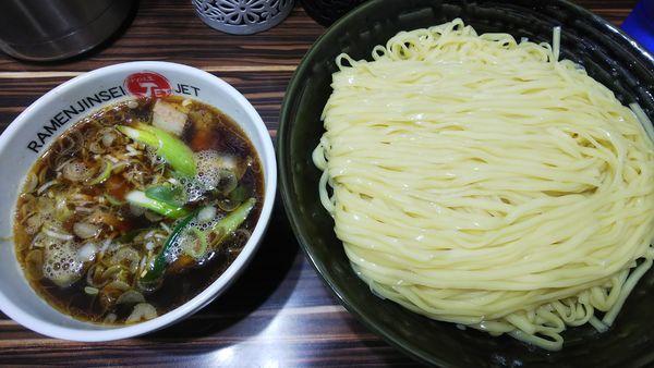 「醤油つけ麺」@ラーメン人生 JET 福島本店の写真