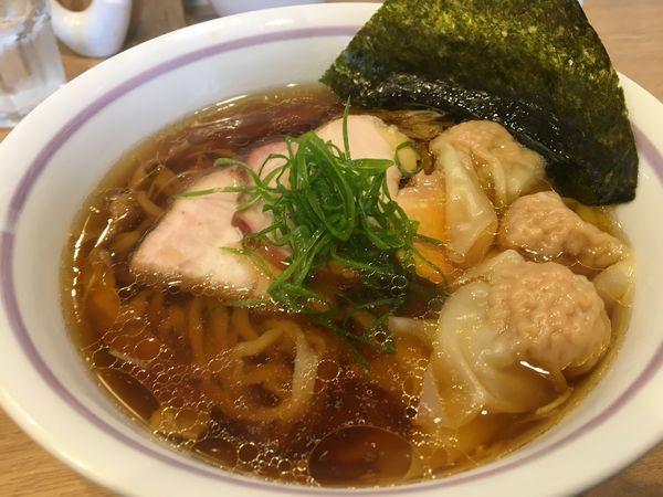 「ワンタン麺 ¥900」@手打中華そば 大賀110の写真