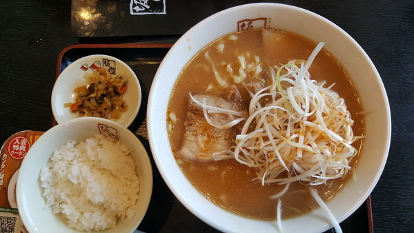 「味噌味のねぎラーメン」@喜多方ラーメン 坂内 蘇我店の写真