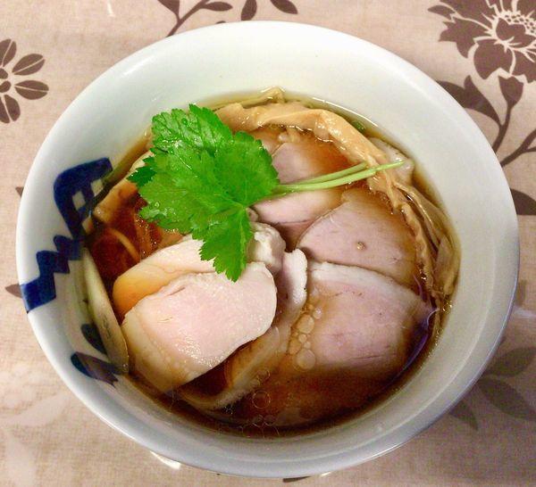 「三大地鶏と生揚醤油のらーめん with肉増し」@小烏丸 ramen-laboの写真