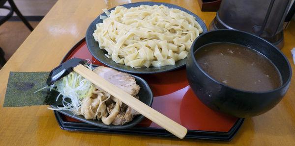 「特製平打ちつけ麺 大盛」@くりの木 上尾店の写真