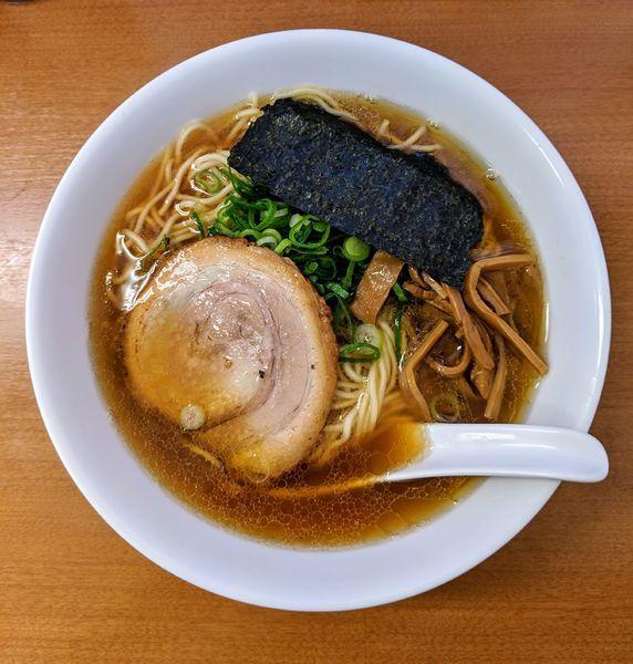 「鶏ガラと魚介のWスープ 750円」@中華そば ななまるの写真