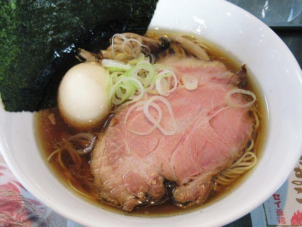「カキ正油らぁ麺(1050円)」@麺や青雲志の写真