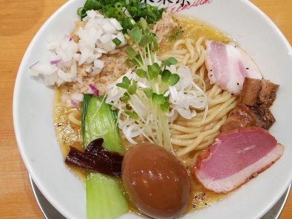 「味玉鶏ホタテそば」@竹末東京プレミアムの写真