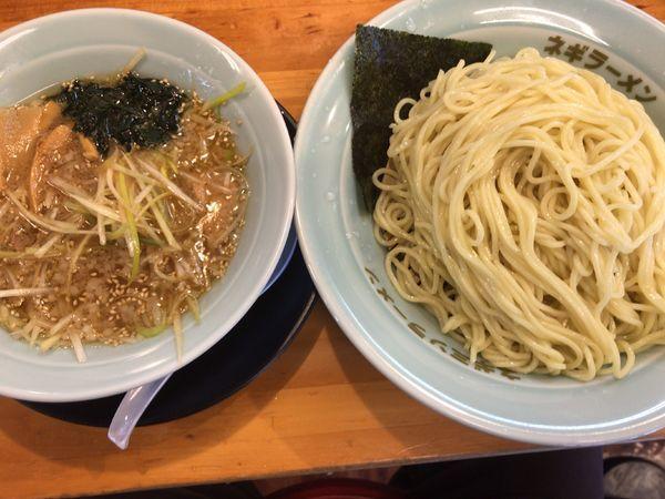 「ネギつけ麺・中盛り・酢無しで840円」@ラーメンショップ椿 二本松店の写真