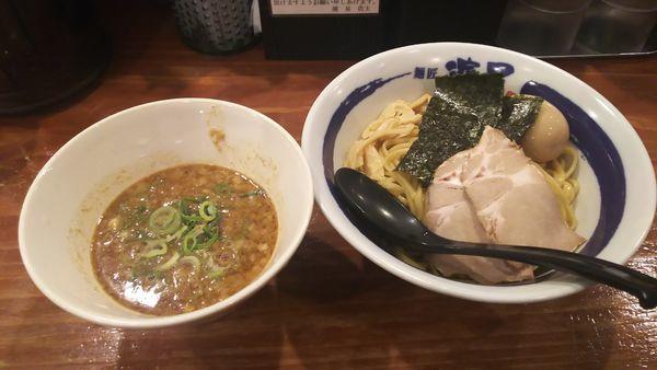 「濃厚煮干しつけ麺+味玉 910円」@濃厚煮干しそば 麺匠 濱星 関内店の写真