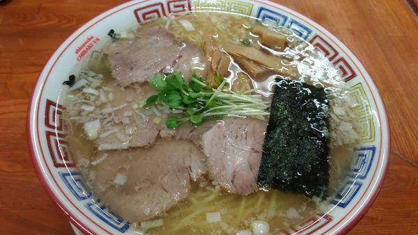 「焼豚そば塩、大盛り」@ちばき屋 葛西店の写真